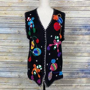 Vintage 90s Christmas Ugly Sweater Vest OHI